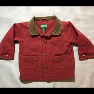 LL Bean Coat Kids/Toddler Canvas Barn Jacket